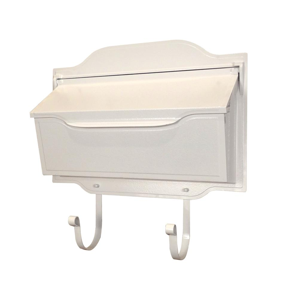 Contemporary Horizontal Mailbox Residential Aluminum Wall Mount Decorative Modern Design. Picture 1