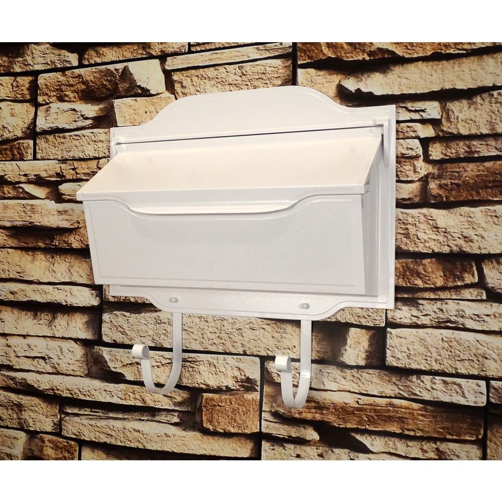 Contemporary Horizontal Mailbox Residential Aluminum Wall Mount Decorative Modern Design. Picture 2
