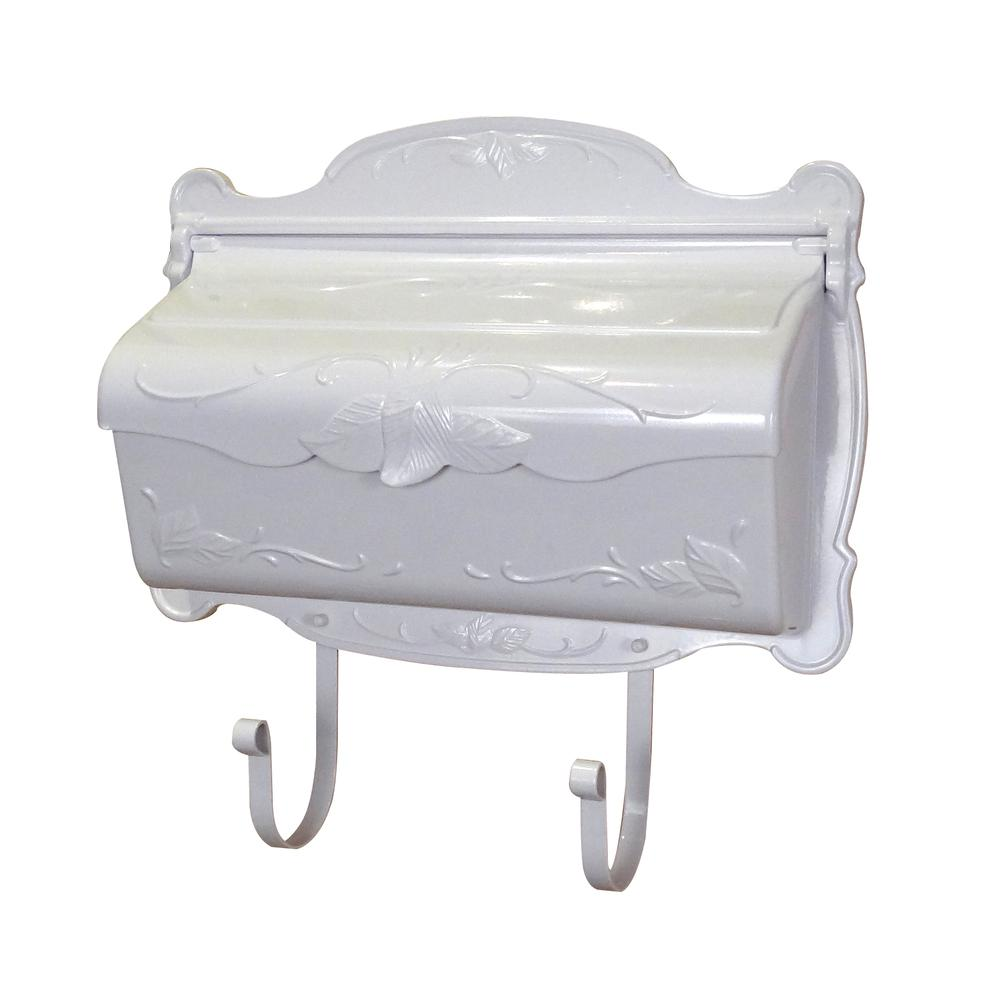 Floral Horizontal Mailbox Wall Mount Aluminum Detailed Decorative Flower. Picture 1