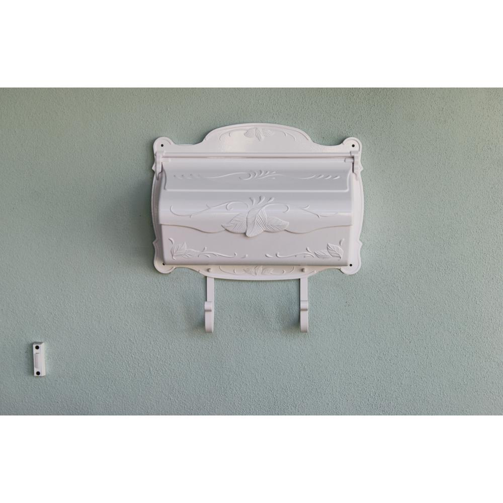 Floral Horizontal Mailbox Wall Mount Aluminum Detailed Decorative Flower. Picture 2