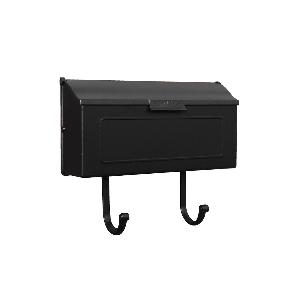 Horizon Horizontal Mailbox Decorative Aluminum Wall Mount Mailbox. Picture 1