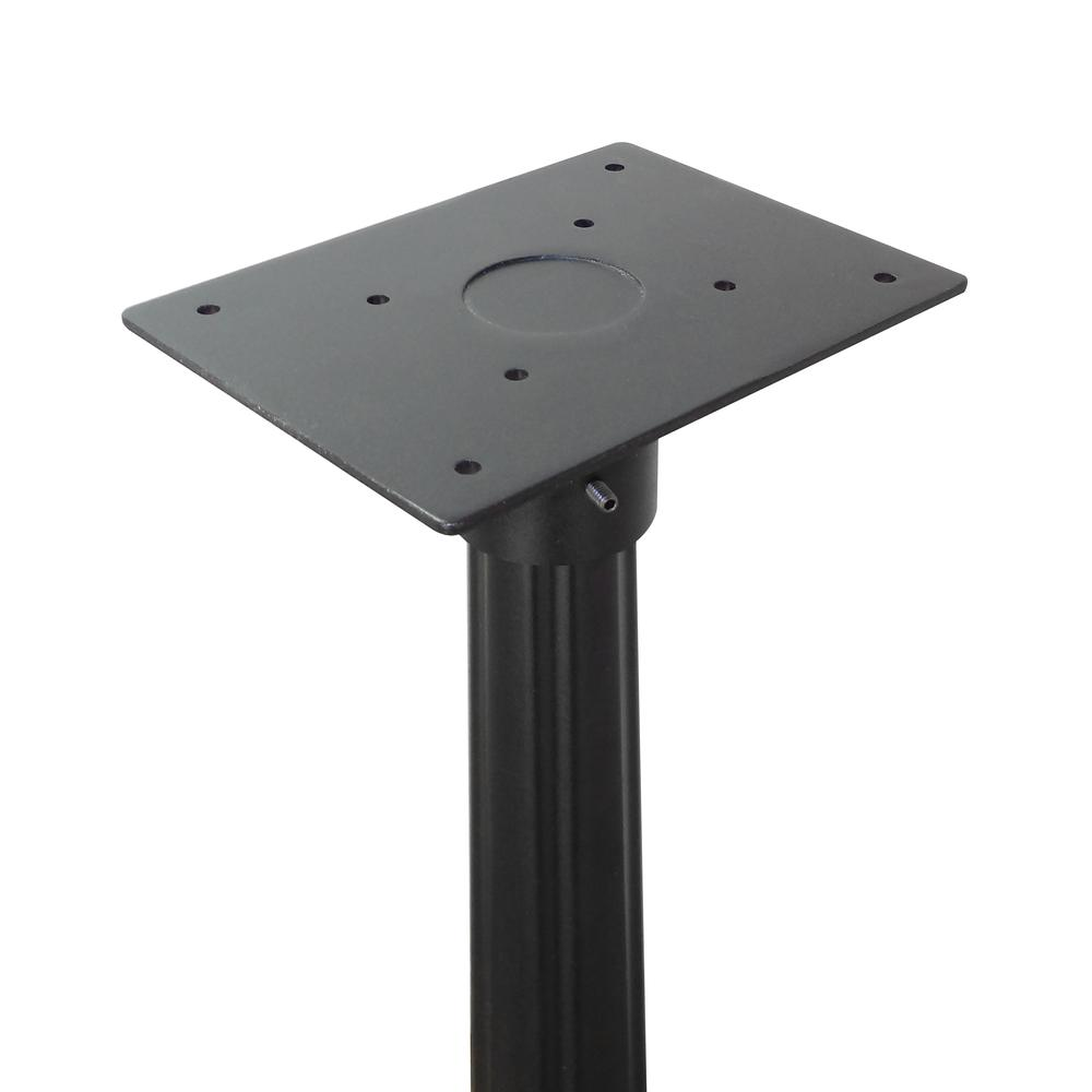 Tacoma Surface Mount Mailbox Post with Base Decorative Aluminum Top Mounting. Picture 34