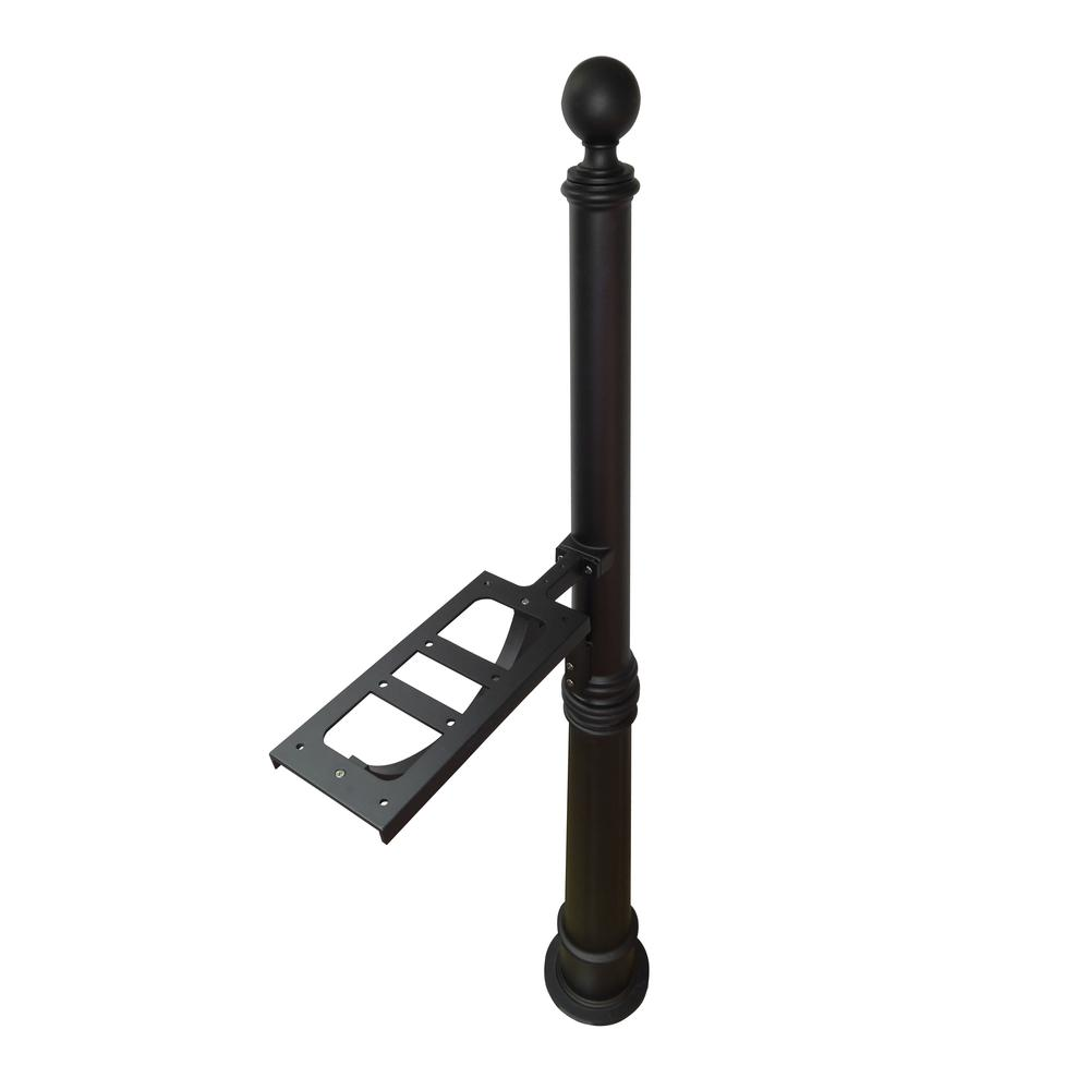 Ashland Decorative Aluminum Durable Mailbox Post with Ball Topper, Base and Mounting Bracket. Picture 27