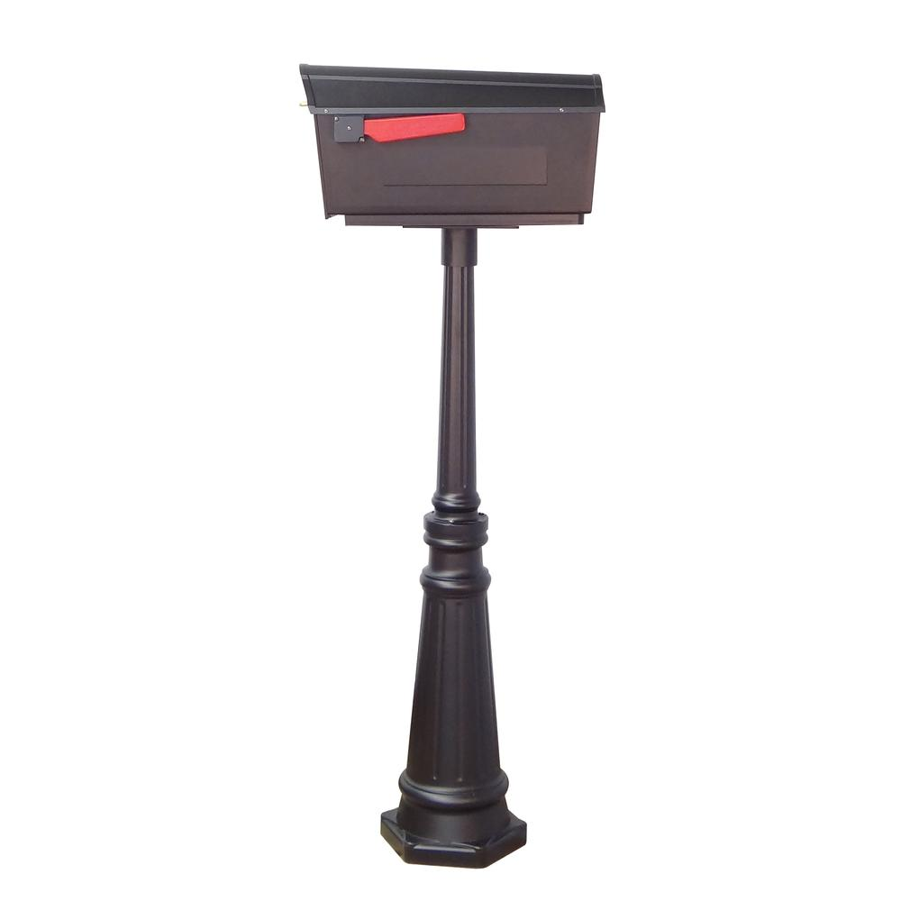 Tacoma Surface Mount Mailbox Post with Base Decorative Aluminum Top Mounting. Picture 39