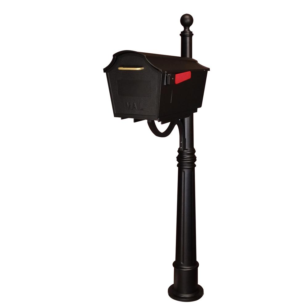 Ashland Decorative Aluminum Durable Mailbox Post with Ball Topper, Base and Mounting Bracket. Picture 32