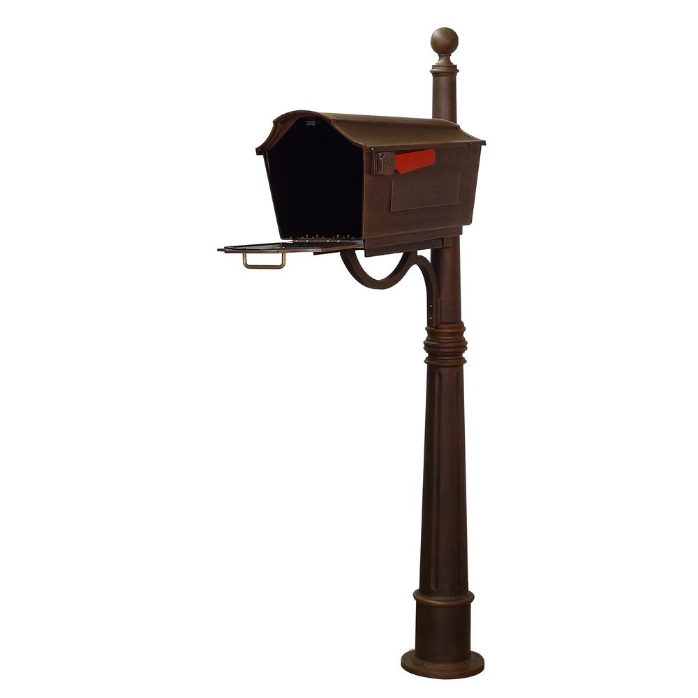 Town Square Curbside Mailbox and Ashland Mailbox Post Unit. Picture 4