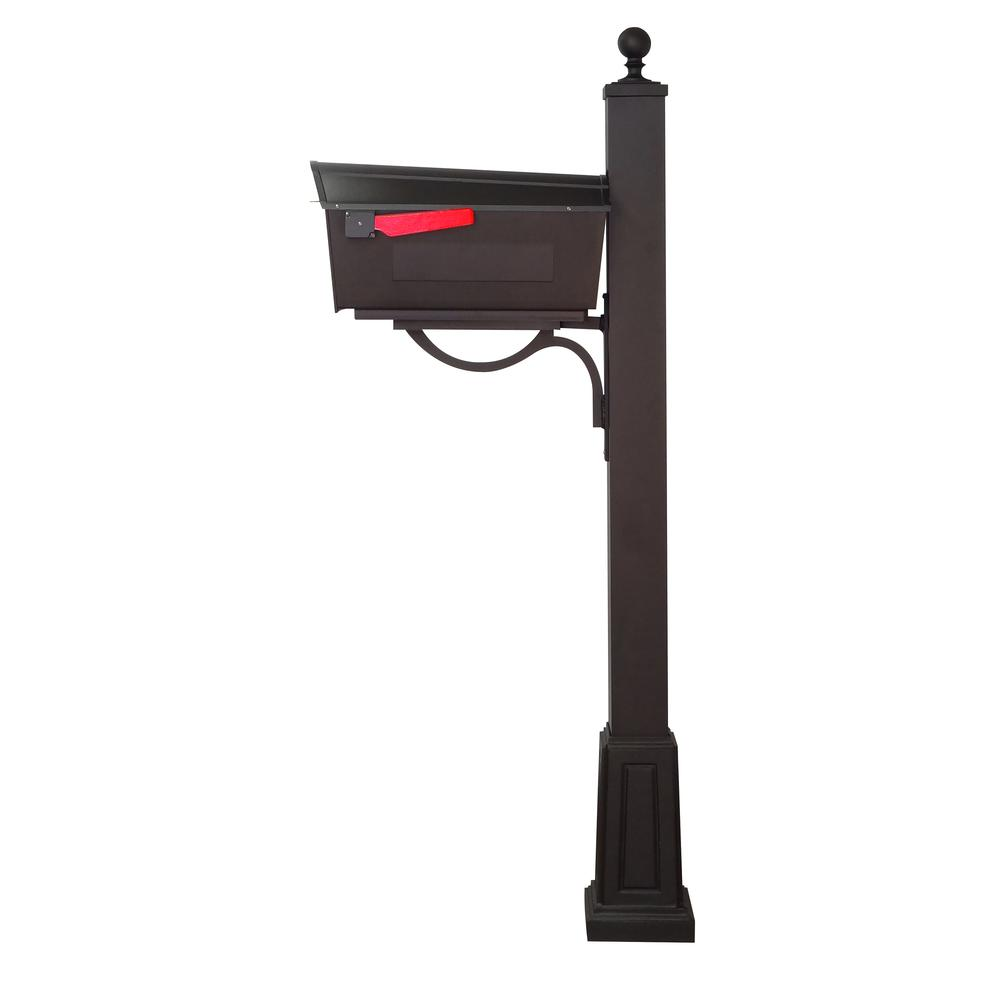 Town Square Curbside Mailbox and Springfield Mailbox Post with Base. Picture 5