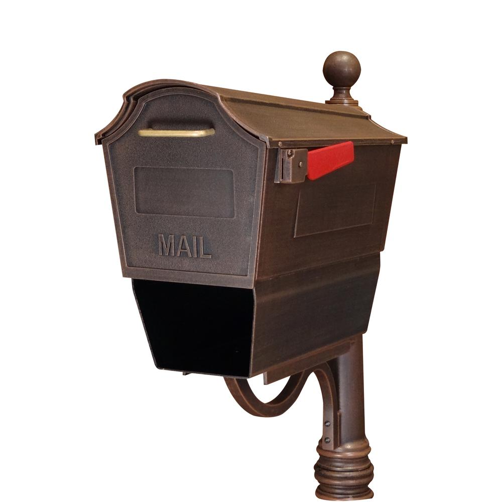 Town Square Curbside Mailbox with Paper Tube. Picture 2