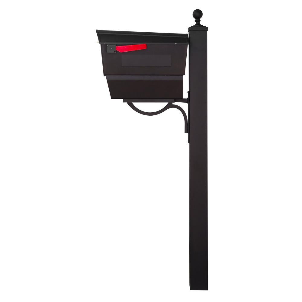 Town Square Curbside Mailbox with Newspaper Tube and Springfield Mailbox Post. Picture 5