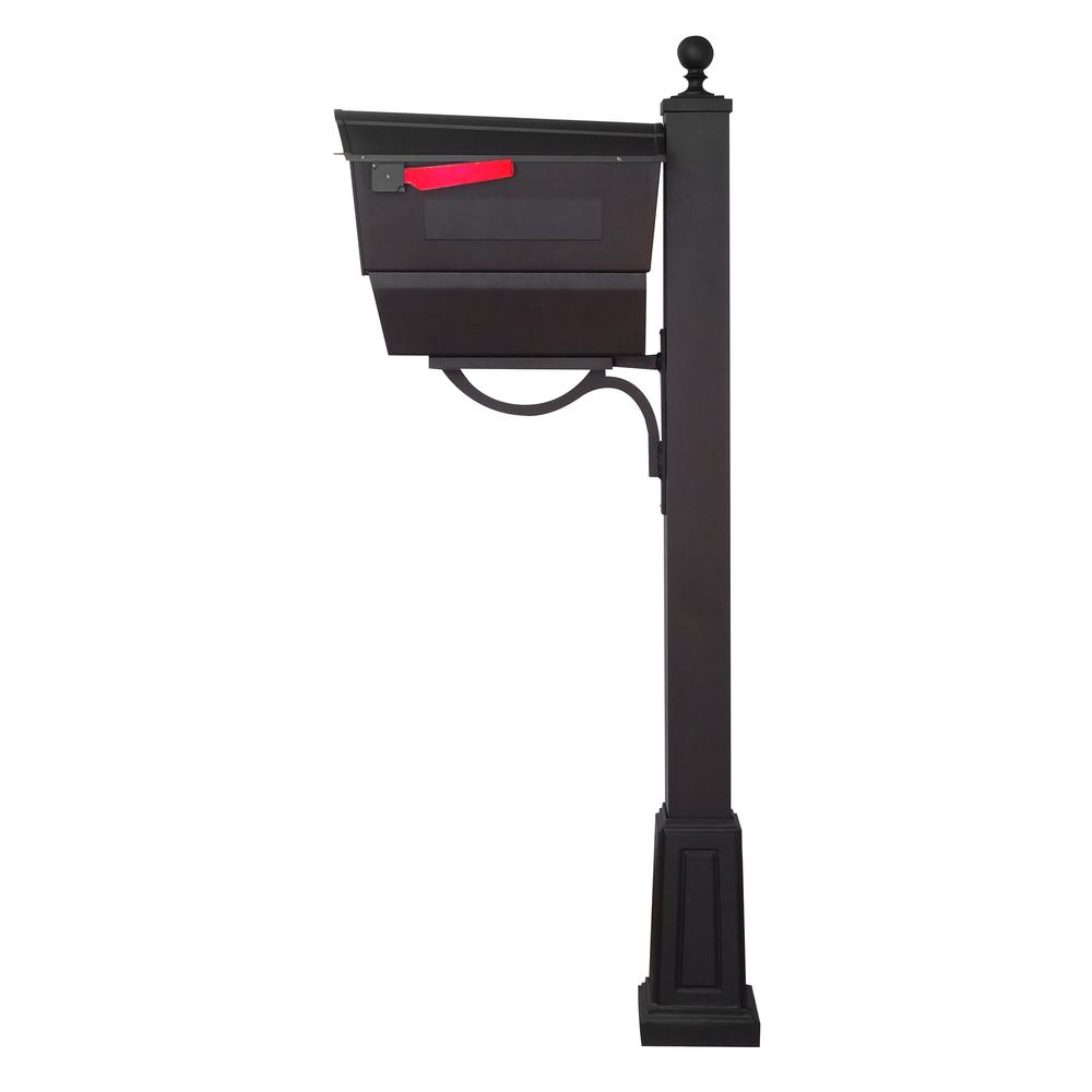 Town Square Curbside Mailbox with Newspaper Tube and Springfield Mailbox Post with Base. Picture 5