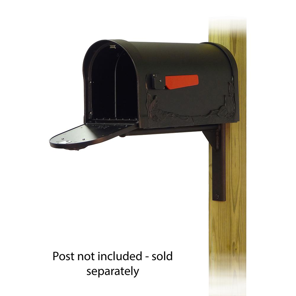 Floral Curbside Mailbox with Ashley front single mailbox mounting bracket. Picture 2