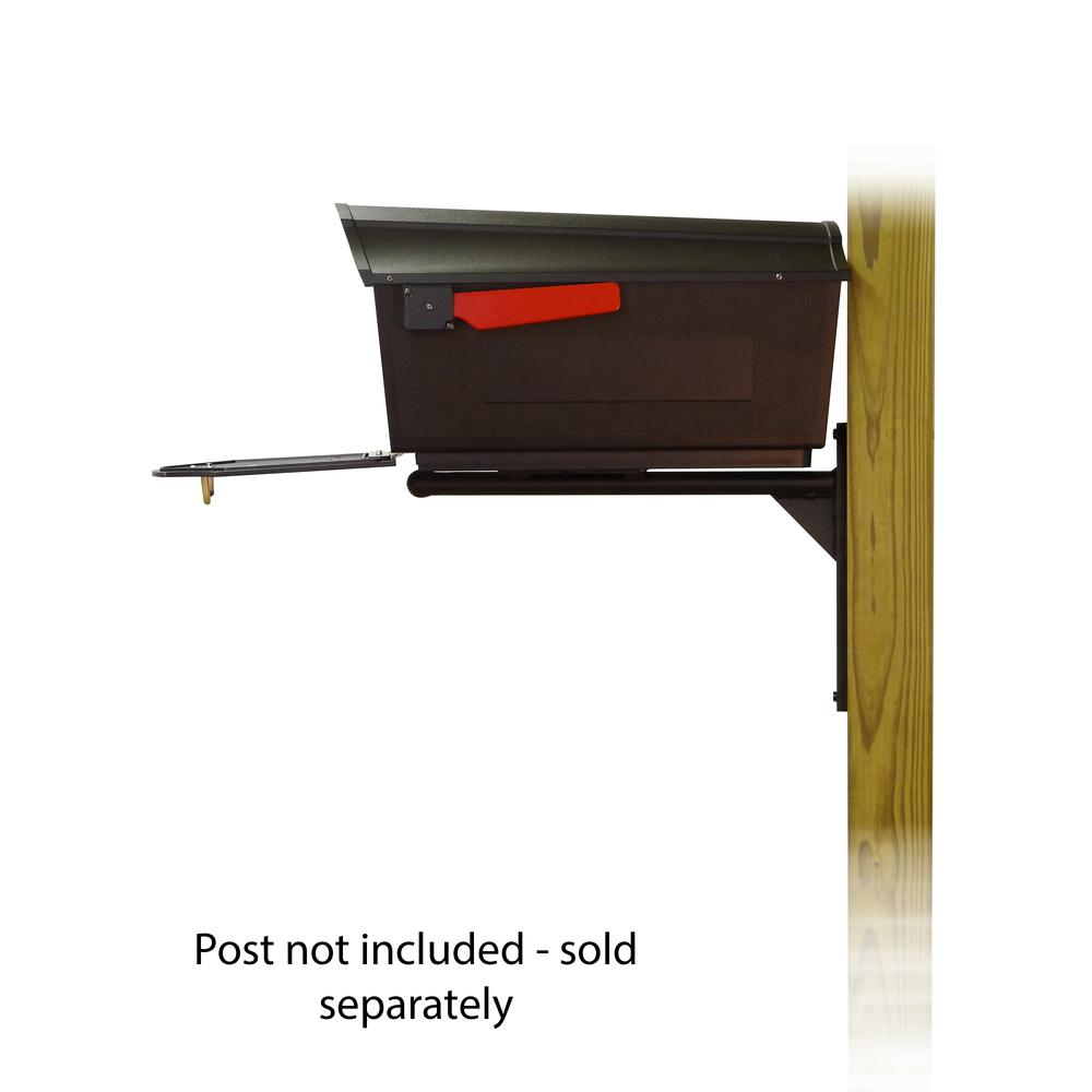 Town Square Curbside Mailbox with Ashley front single mailbox mounting bracket. Picture 4
