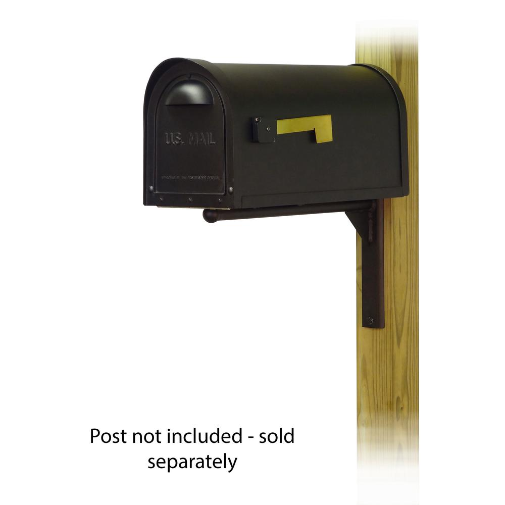 Classic Curbside Mailbox with Ashley front single mailbox mounting bracket. Picture 1