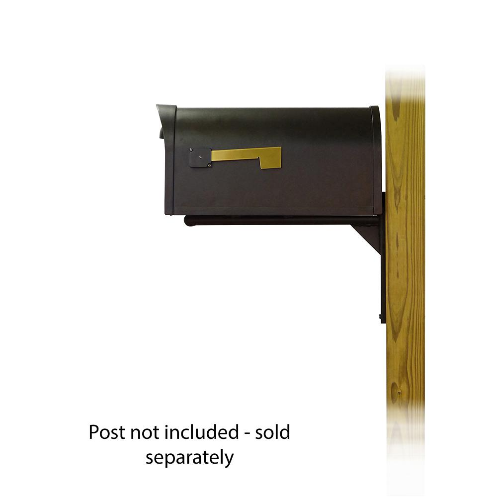 Classic Curbside Mailbox with Ashley front single mailbox mounting bracket. Picture 3