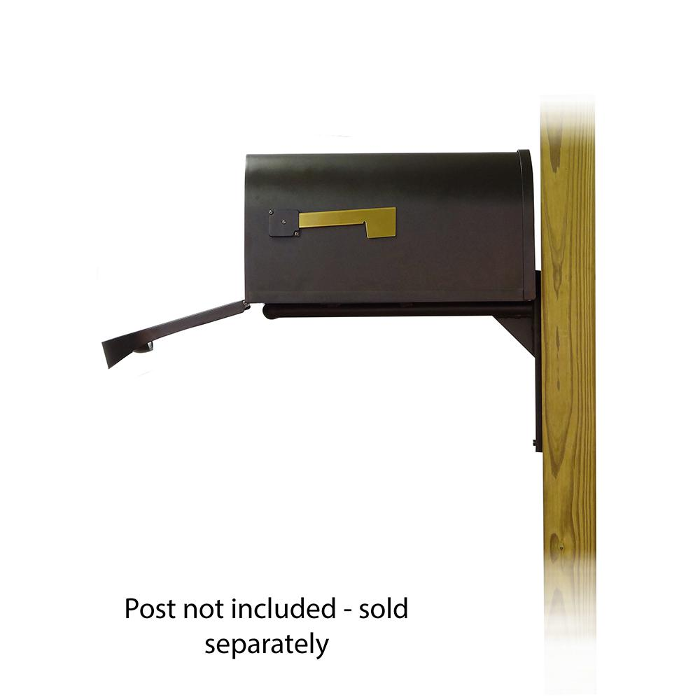 Classic Curbside Mailbox with Ashley front single mailbox mounting bracket. Picture 4