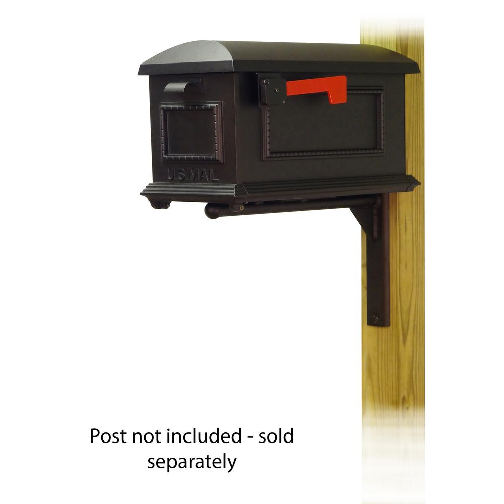 Traditional Curbside Mailbox with Ashley front single mailbox mounting bracket. Picture 1