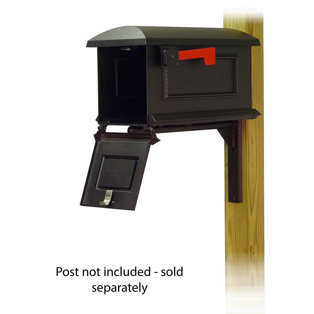 Traditional Curbside Mailbox with Ashley front single mailbox mounting bracket. Picture 2
