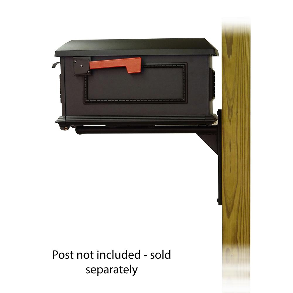 Traditional Curbside Mailbox with Ashley front single mailbox mounting bracket. Picture 3