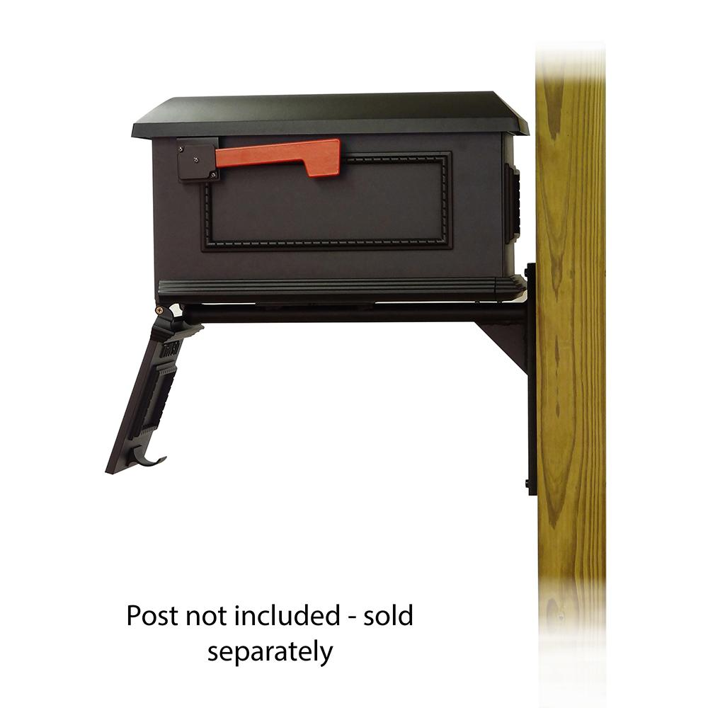 Traditional Curbside Mailbox with Ashley front single mailbox mounting bracket. Picture 4