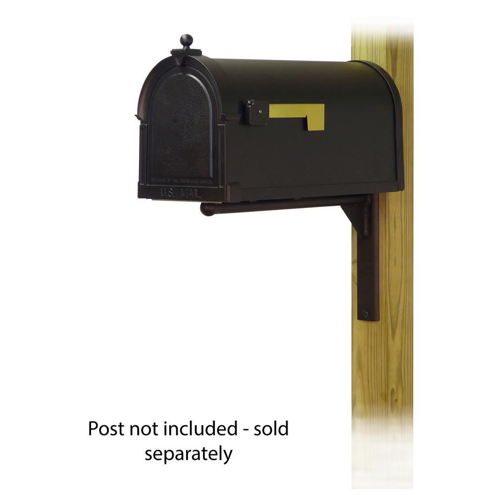 Berkshire Curbside Mailbox with Ashley front single mailbox mounting bracket. Picture 1