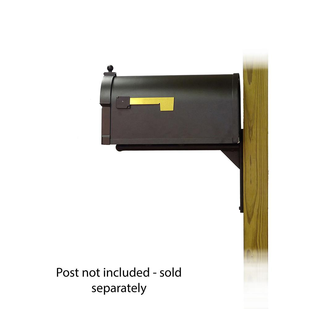 Berkshire Curbside Mailbox with  Front Address Numbers and Ashley front single mailbox mounting bracket. Picture 3