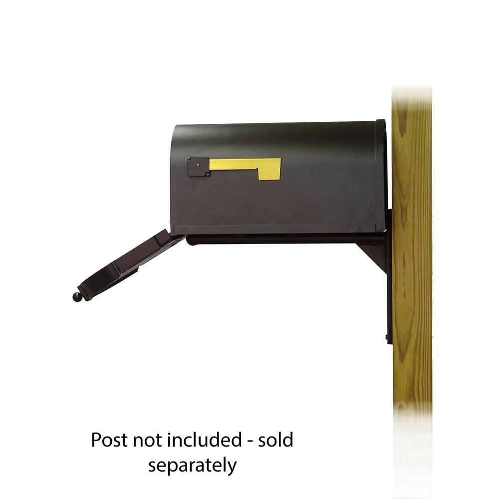 Berkshire Curbside Mailbox with  Front Address Numbers and Ashley front single mailbox mounting bracket. Picture 4