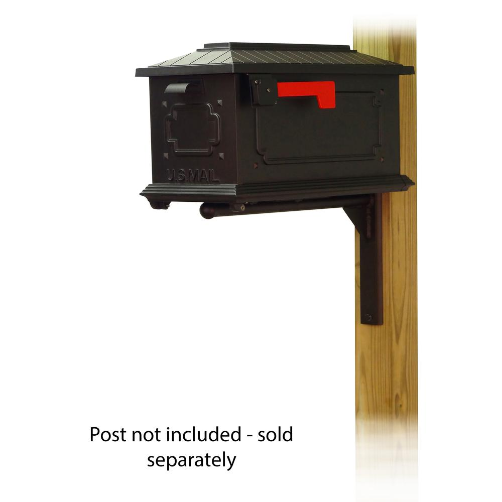 Kingston Curbside Mailbox with Ashley front single mailbox mounting bracket. Picture 1