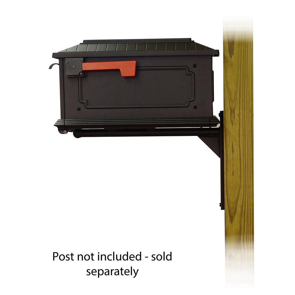 Kingston Curbside Mailbox with Ashley front single mailbox mounting bracket. Picture 3