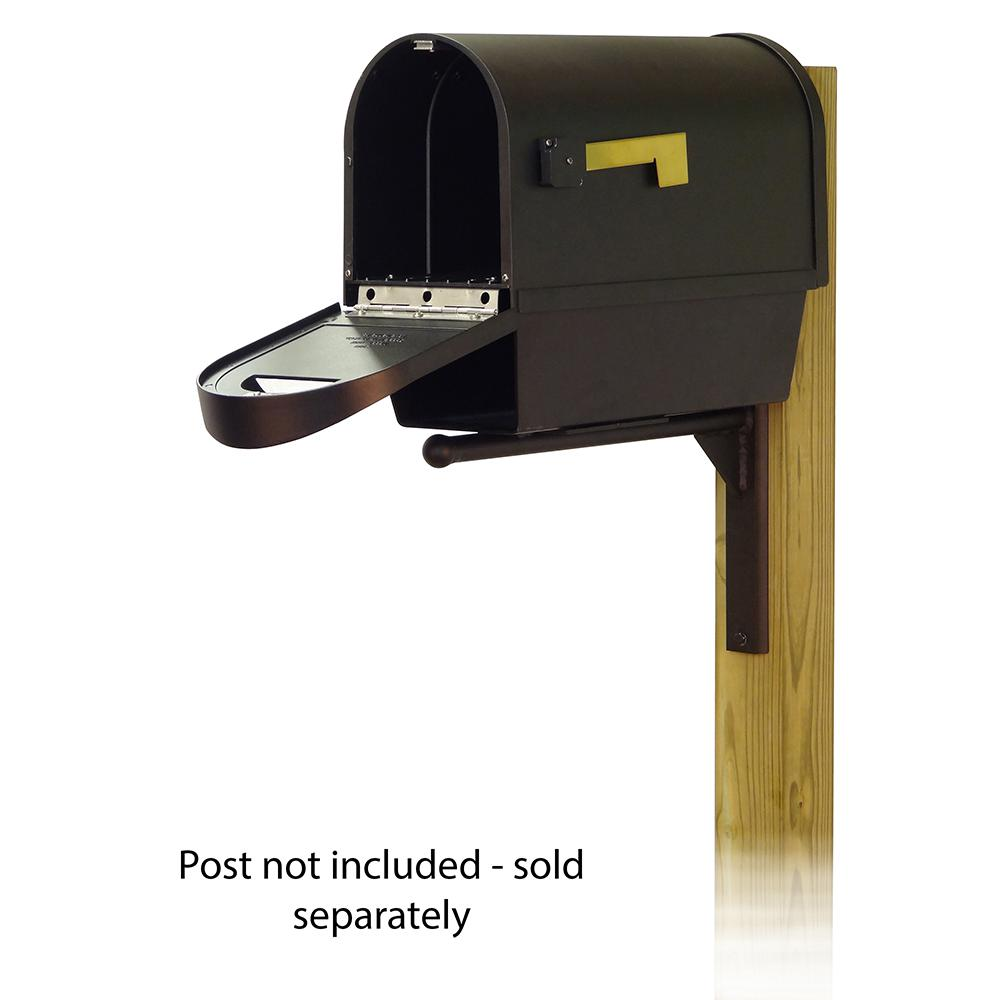 Classic Curbside Mailbox with Newspaper tube and Ashley front single mailbox mounting bracket. Picture 2