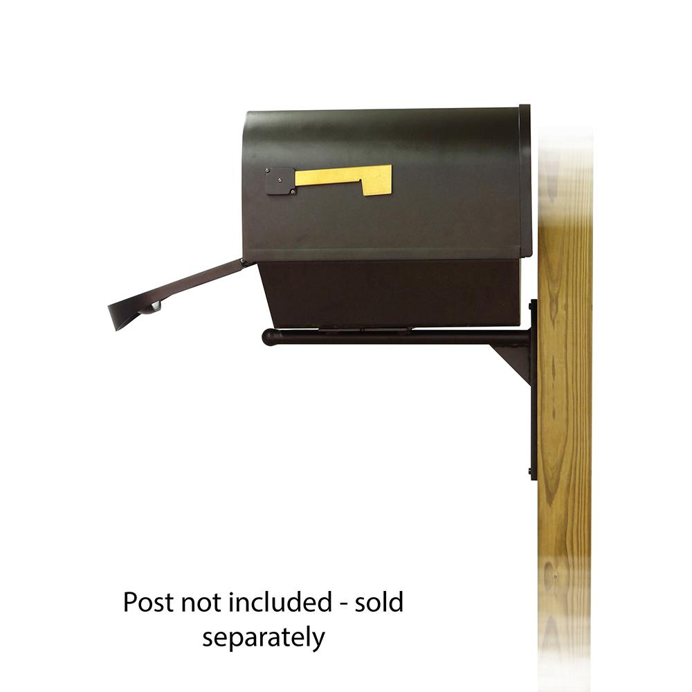 Classic Curbside Mailbox with Newspaper tube and Ashley front single mailbox mounting bracket. Picture 4