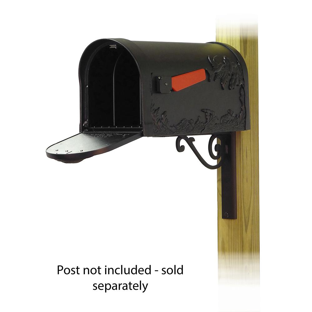 Hummingbird Curbside Mailbox with Baldwin front single mailbox mounting bracket. Picture 2
