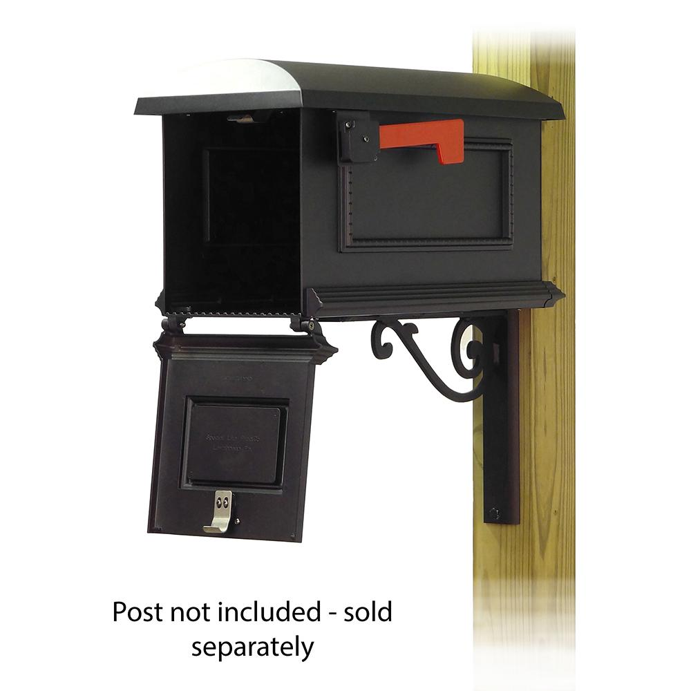Traditional Curbside Mailbox with Baldwin front single mailbox mounting bracket. Picture 2
