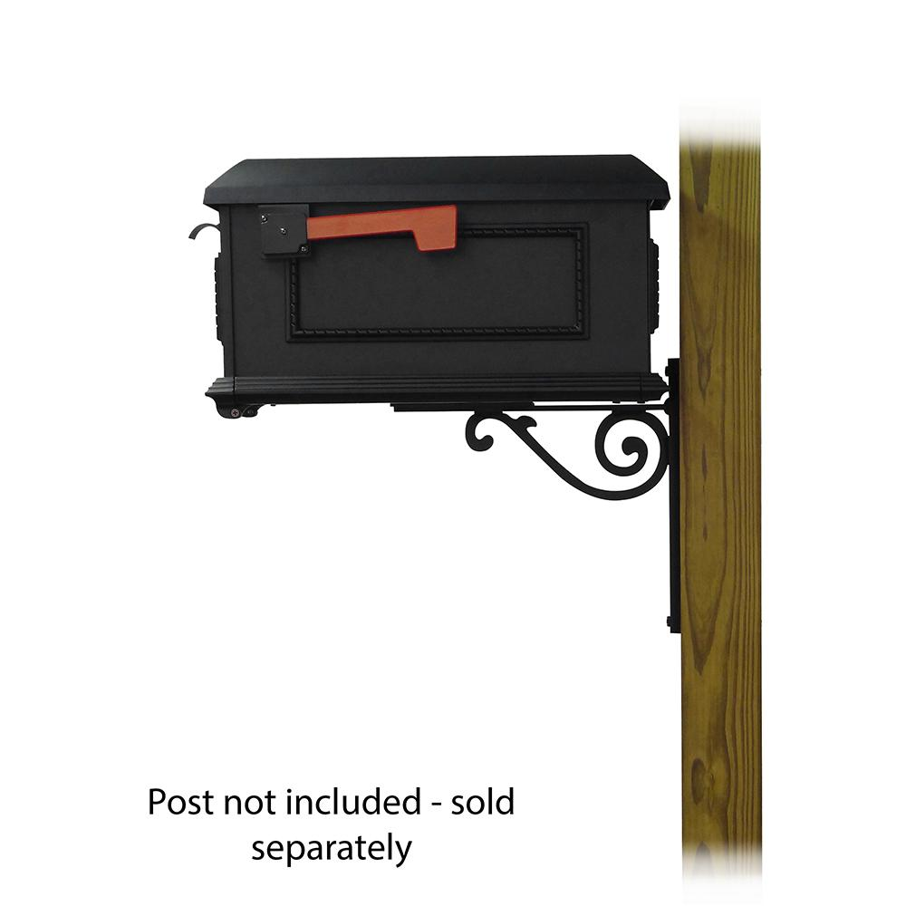 Traditional Curbside Mailbox with Baldwin front single mailbox mounting bracket. Picture 3