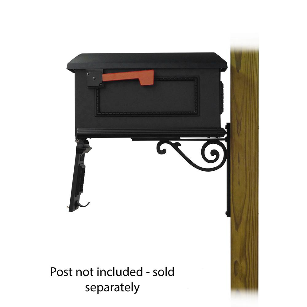 Traditional Curbside Mailbox with Baldwin front single mailbox mounting bracket. Picture 4
