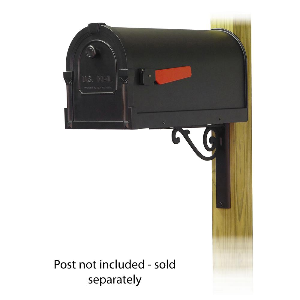 Savannah Curbside Mailbox with Baldwin front single mailbox mounting bracket. Picture 1