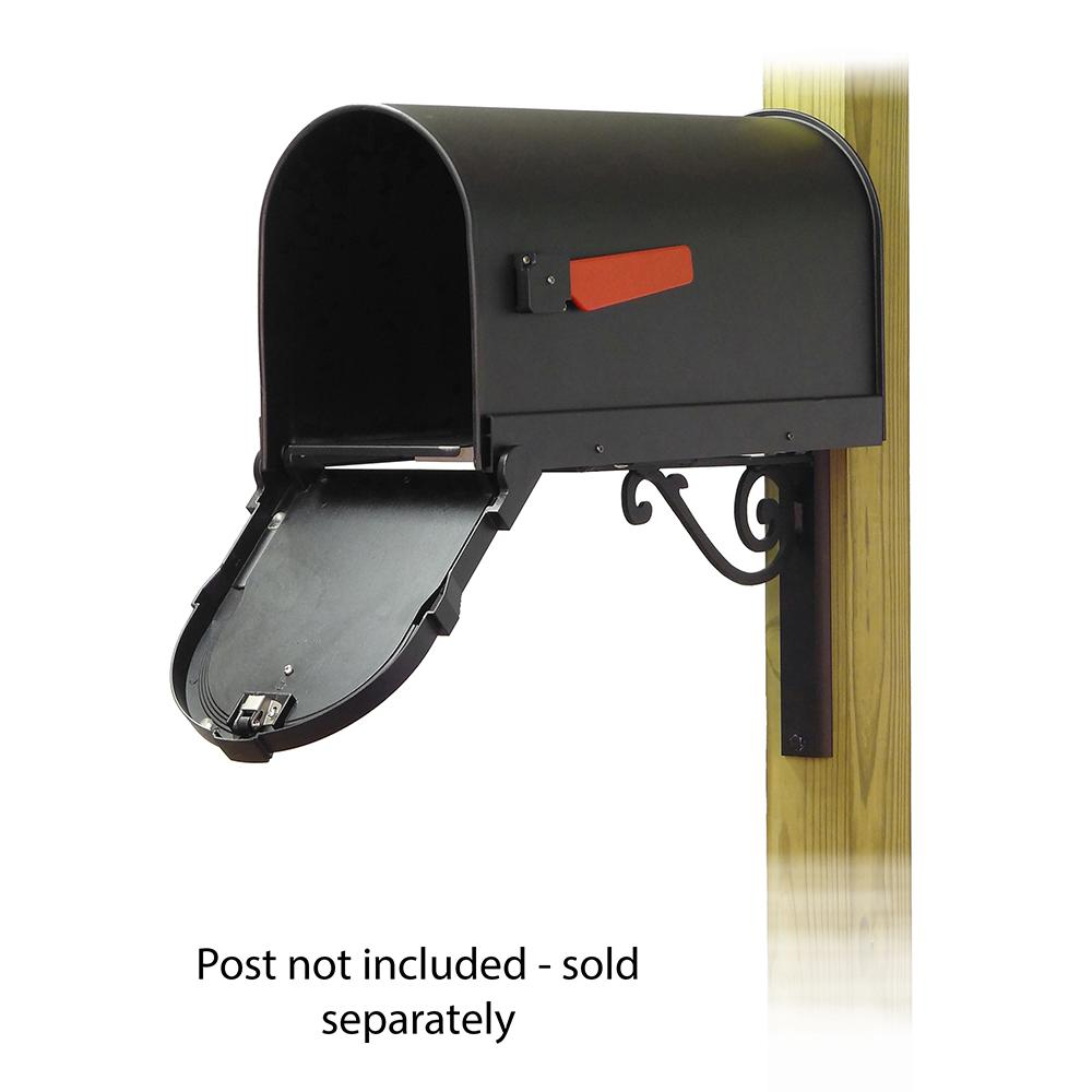 Savannah Curbside Mailbox with Baldwin front single mailbox mounting bracket. Picture 2