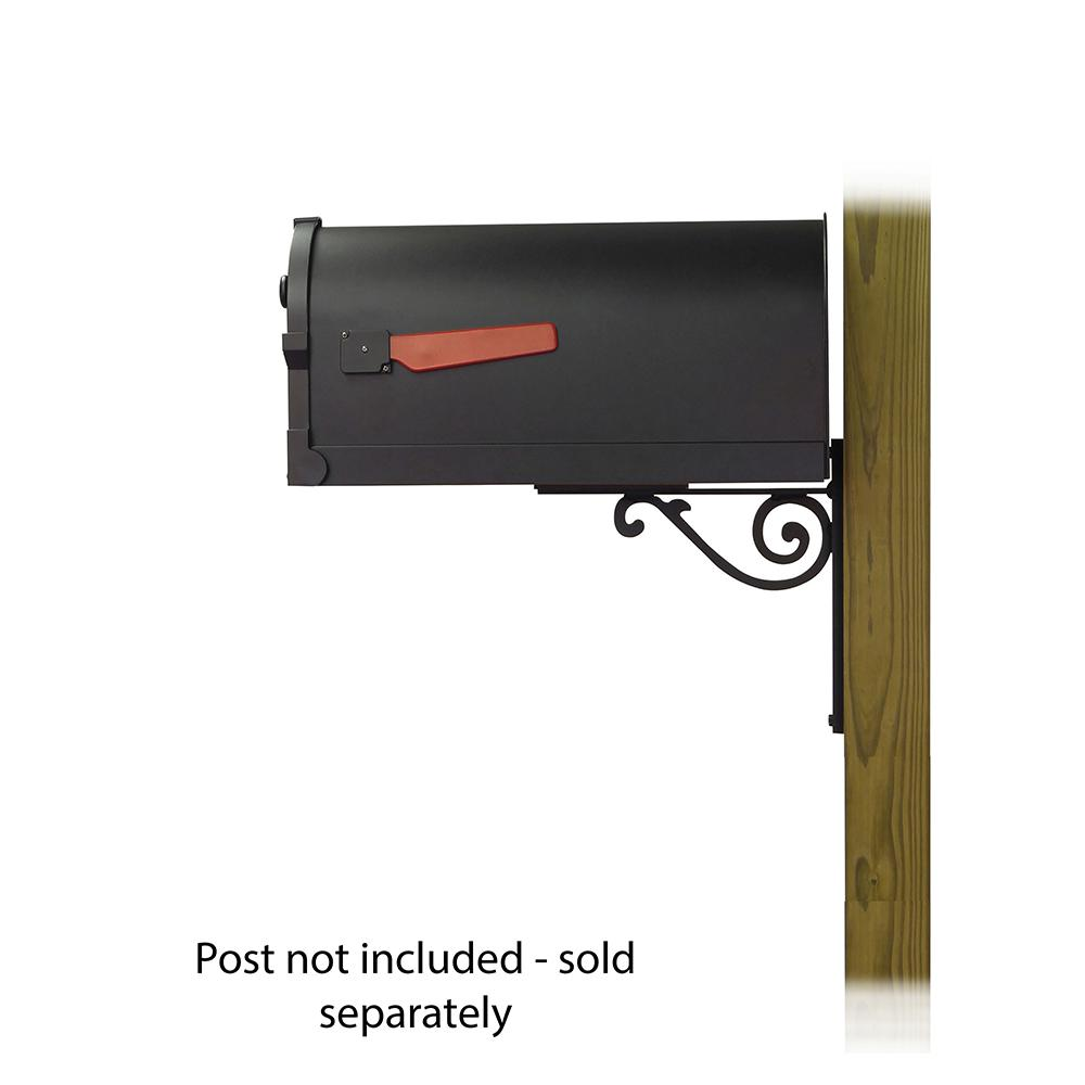 Savannah Curbside Mailbox with Baldwin front single mailbox mounting bracket. Picture 3