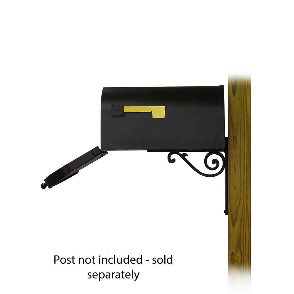 Berkshire Curbside Mailbox with  Front Address Numbers and Baldwin front single mailbox mounting bracket. Picture 4
