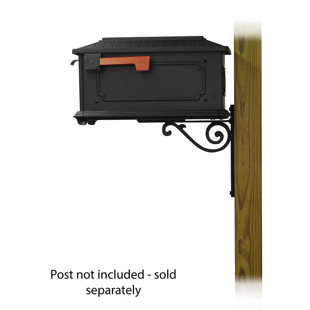 Kingston Curbside Mailbox with Baldwin front single mailbox mounting bracket. Picture 3