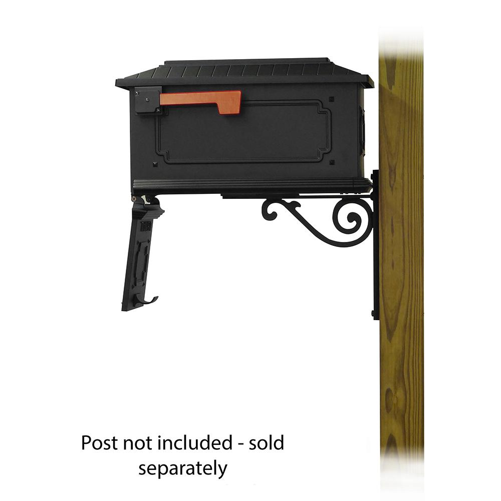 Kingston Curbside Mailbox with Baldwin front single mailbox mounting bracket. Picture 4