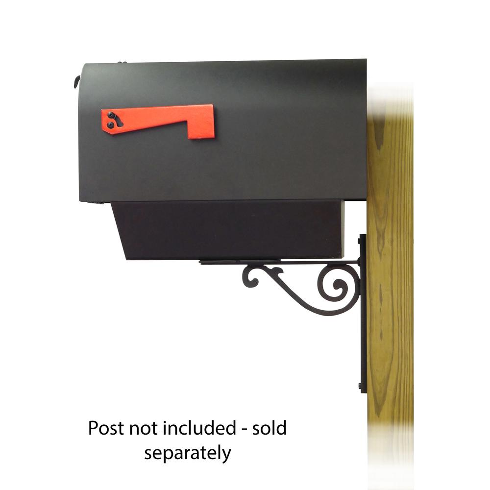 Titan Steel Curbside Mailbox with Newspaper tube and Baldwin front single mailbox mounting bracket. Picture 3