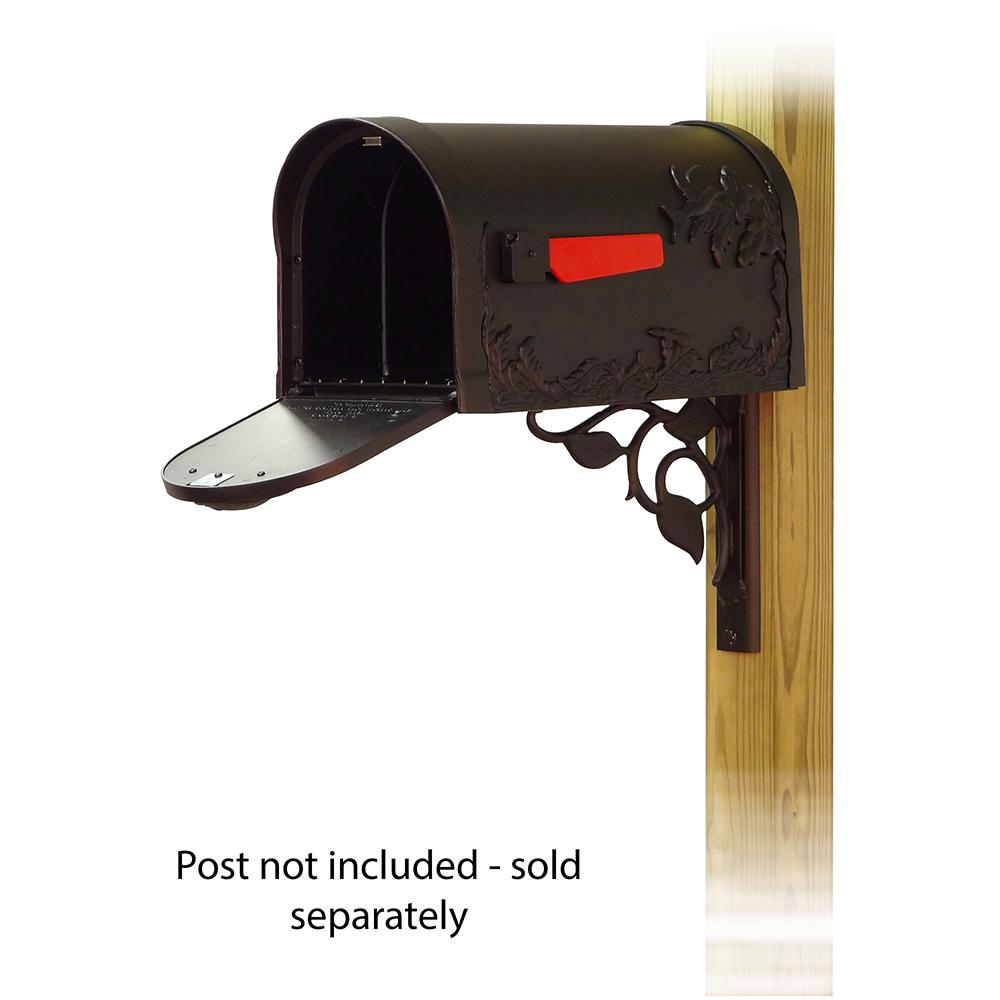 Hummingbird Curbside Mailbox with Floral front single mailbox mounting bracket. Picture 2