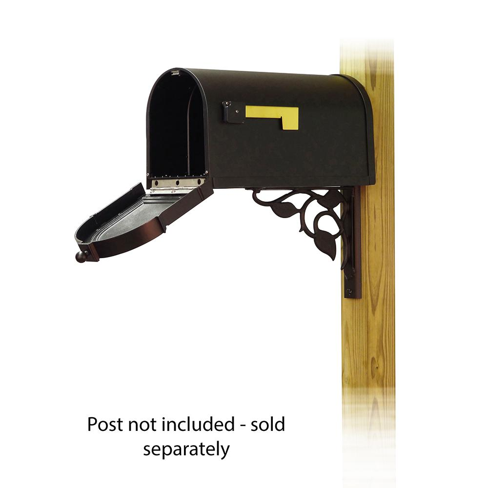 Berkshire Curbside Mailbox with Floral front single mailbox mounting bracket. Picture 2