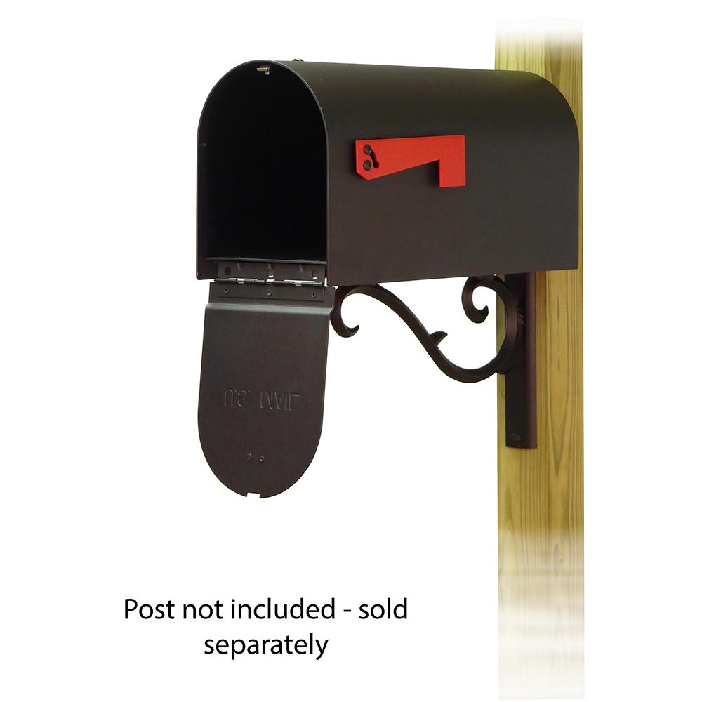 Titan Steel Curbside Mailbox with Sorrento front single mailbox mounting bracket. Picture 2