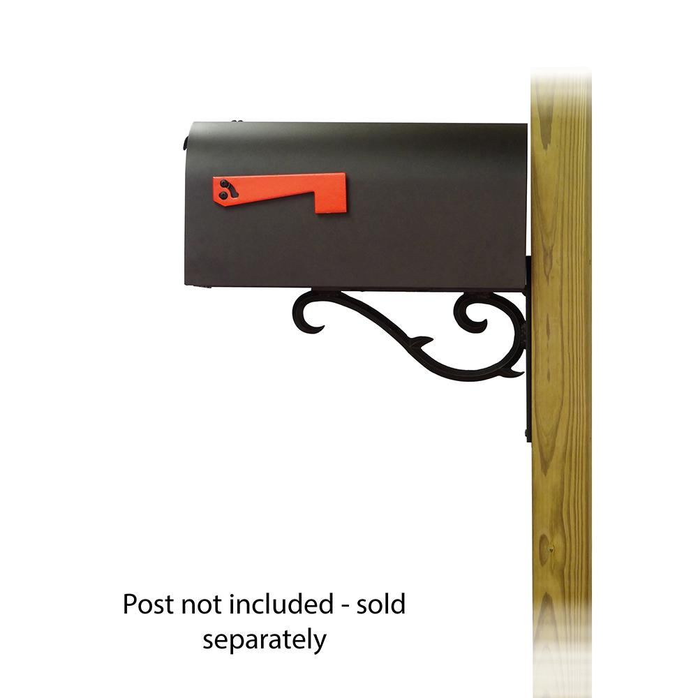 Titan Steel Curbside Mailbox with Sorrento front single mailbox mounting bracket. Picture 3