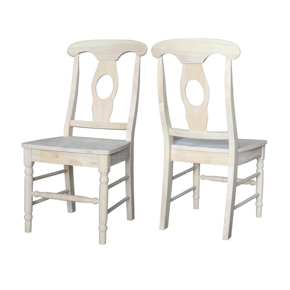Set of Two Empire Chairs with Aolid Wood Seats, Unfinished. Picture 2