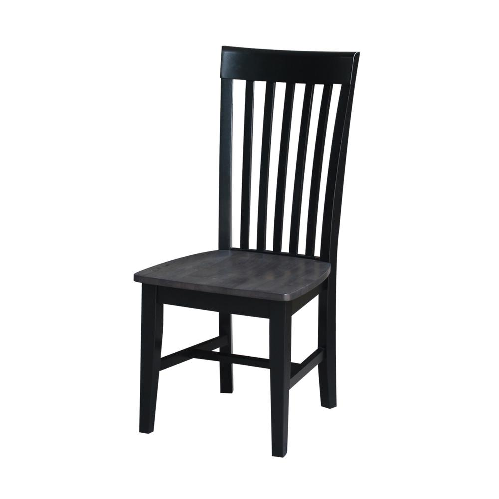 Set of Two Cosmo Tall Mission Chairs, Coal-Black/washed black. Picture 2