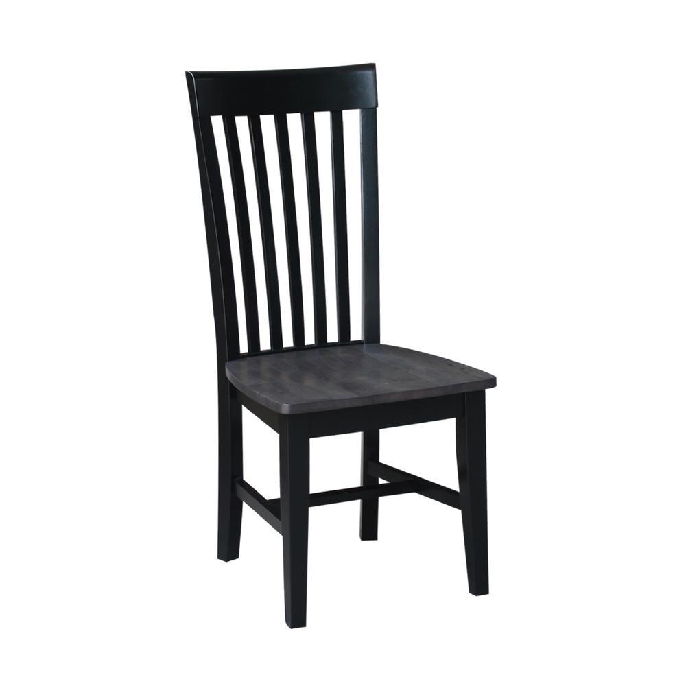 Set of Two Cosmo Tall Mission Chairs, Coal-Black/washed black. Picture 3