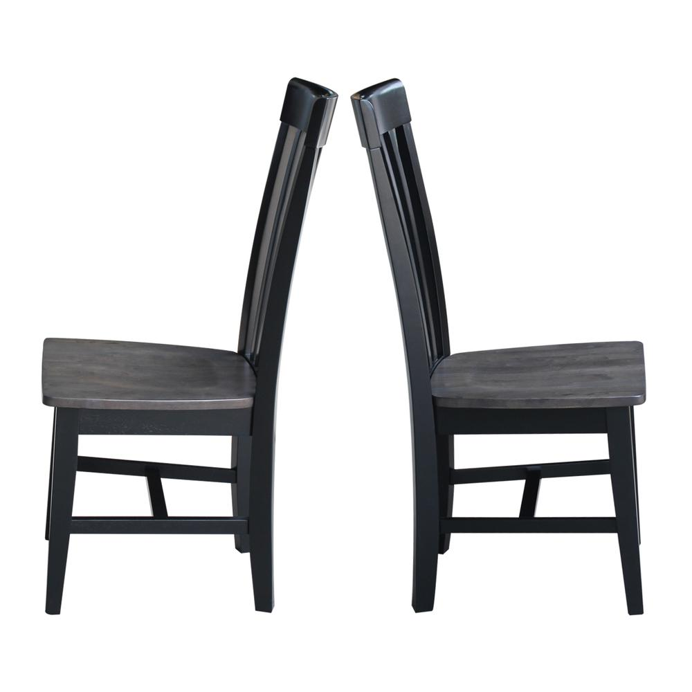 Set of Two Cosmo Tall Mission Chairs, Coal-Black/washed black. Picture 4