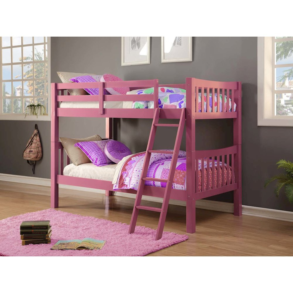 Twin/Twin Mission Bunk Bed. Picture 1